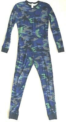 Gap Kids Boys Size 14 Cotton 2 Piece Pj's Pajamas Set Green Blue