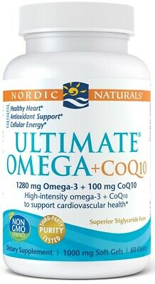 (60g, 68,55 EUR/100g) Nordic Naturals Ultimate Omega + CoQ10, 1280mg - 60 softg