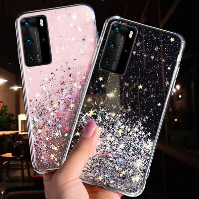Glitter Star Clear Soft Case Cover For Samsung Galaxy S10 S9 S8 Plus Note 10+