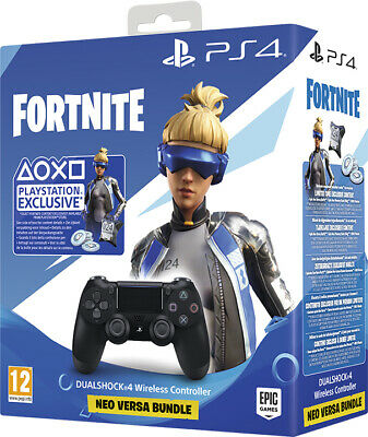 Controller Originale Sony Playstation 4 Ps4 Dualshock V2 Jet Black+Fortnite Vch