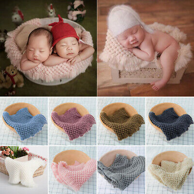 Knit Background Photography Props for Baby Photo Newborn Photography Blanket
