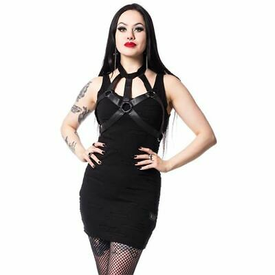Vixxsin Gothic Goth Punk Minikleid Kleid Vicious Dress Nieten