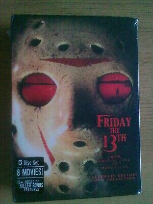 NEW Friday The 13th Ultimate Complete Collection 5 Disc DVD Box Set 1-8 Jason