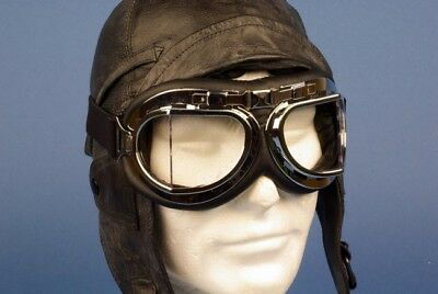 Flying Goggles Type RAF Replica - Chrome