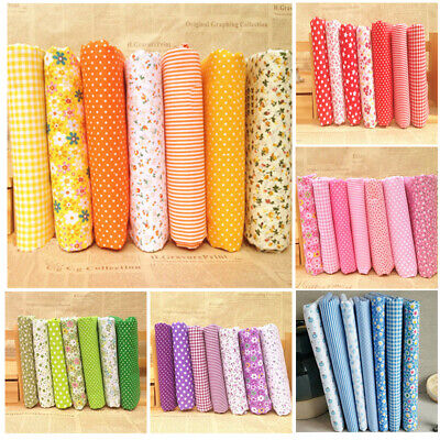 7Pcs/lot Assorted Pre-Cut Fat Quarters Bundle Charm Cotton Quilt Fabric Hot 2019