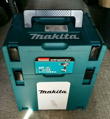Joblot 2 Makita Makpac stacking connector tool case systainer type 4 & 2 insert