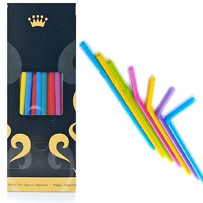 Drinking Straws Jumbo Colourful with Kink Ø8x250mm 170 Flexible Golden Cup