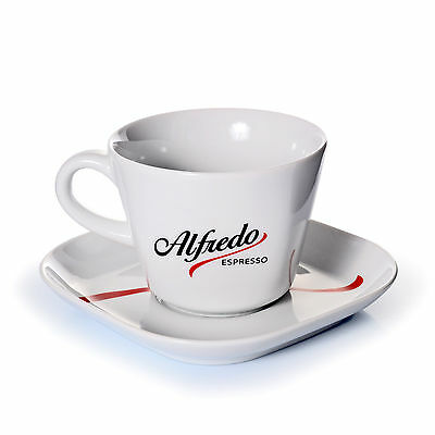 Alfredo Coffee Cup Cappuccino Cup with Saucer Cappuccino 2- Pieces