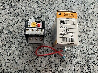 New, Old Stock  GE Spectra 700 Overload Relay CR7G1WN FREE SHIPPING