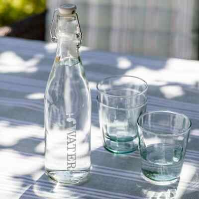 Garden Trading Small Glass Lidded Tap Water Bottle - Glass Tap Water Bottle