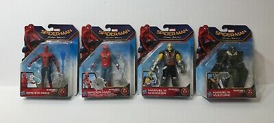 Marvel Spider-Man Homecoming Suit, Shocker, Vulture Figures Lot Set Complete 6in