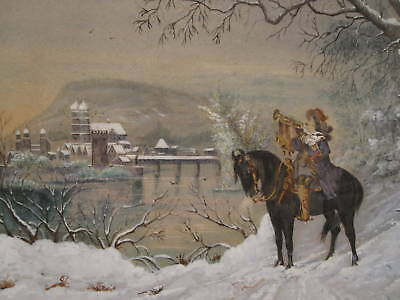 ANTIQUE 18th or 19th CENTURY SOLDIER SACKINGEN GERMANY IMPRESSIONIST PAINTING