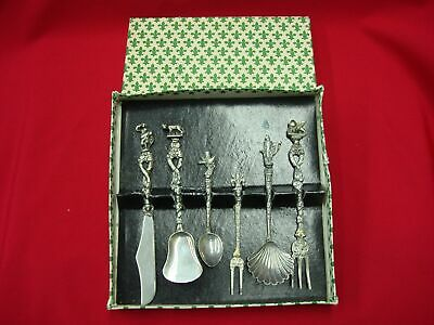 Set Of 6 Vintage / Antique Silver Plated Serving Pieces Italy Bordini Montagnani