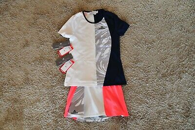 Adidas Stella McCartney Barricade Girls Tennis T-shirt+Skirt Skort 140cm 9-10y