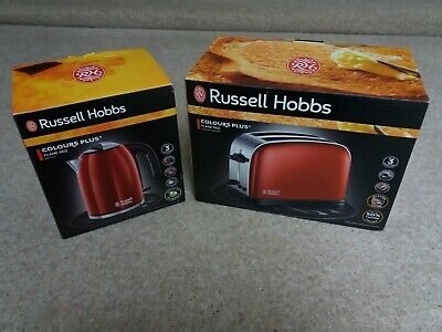 New & Boxed Russell Hobbs – Kettle & 2 Slice Toaster – Flame Red – Fab Set