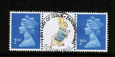 GB QEII 1993 SG 1451aEB with label from DX15 Band at left Used