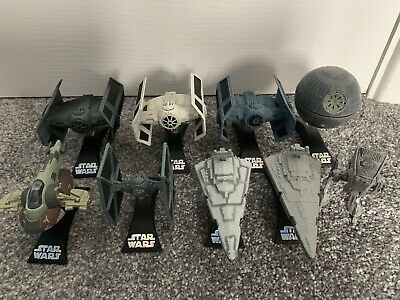 Star Wars Titanium Vaders Tie Advanced variants, AT-ST, Death Star diecast