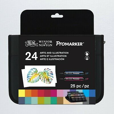 Winsor & Newton ProMarker - Set of 24 - Art & Illustration Wallet