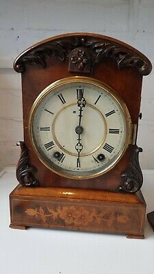 Rare Miniature Antique Bracket Cuckoo Clock Marquetry Case