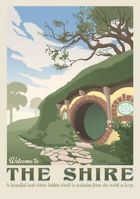 Poster the Lord of the Rings Lotr Print Film Cinema Film County Hobbit