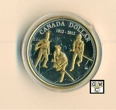 2012 Gold-plated Prf Fine Silver $ Coin '200th Anniversary of War of 1812'(OOAK