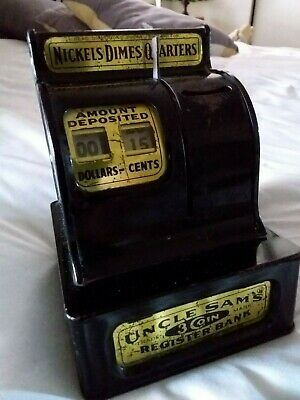 Vintage Uncle Sam's 3 Coin Register Bank By Western Stamping Corp.