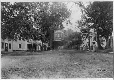 Post Office Square,Blue Hill,Hancock County,Maine,ME,1912,photo by Louis O 4553