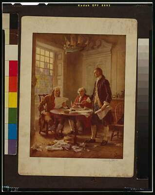 Writing the Declaration of Independence,1776,J.L.G. Ferris,Jefferson,Frank 9599