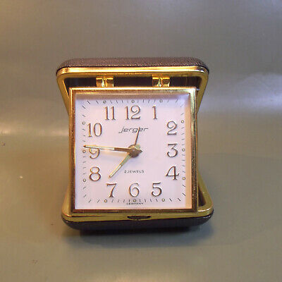 Vintage (mid 60s) Jerger Mechanical Alarm Travel Clock. Made in Germany