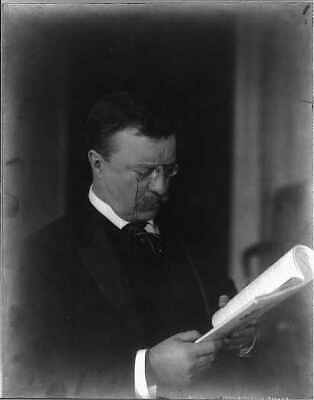 Theodore Roosevelt,President,Teddy,reading,papers,glasses,portrait,c1904 9246