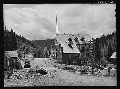 Ghost Mining Town,Bourne,Oregon,OR,Baker County,Farm Security Administrati 7397