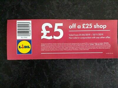 10 x £5 off £25 spend in Lidl coupons