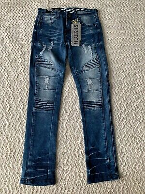 NWT Boy's LR Scoop MRD80 Indigo Blue Moto Leg Stretch Skinny Jeans ALL SIZES 5-7
