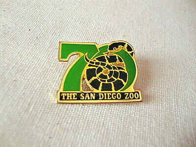 The San Diego Zoo 70 Years Pinback Souvenir Lapel or Hat Pin with Snake