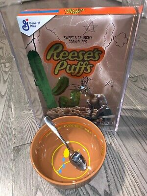 TRAVIS SCOTT X REESE'S PUFFS FULL SET Cereal, Bowl, Spoon *IN HAND*