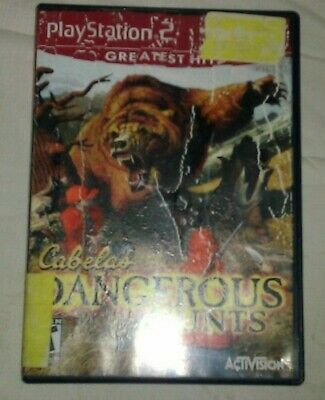 Cabela's Dangerous Hunts Greatest Hits ( PlayStation 2, 2003) PS2 Complete CIB