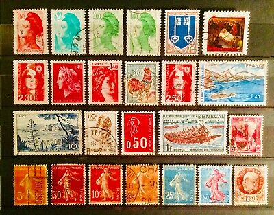 France Collection Used New Older French Stamps Educational Hobby 08210719