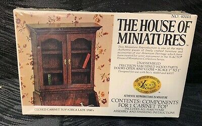 The House Of Miniatures Closed Cabinet Top Circa Late 1700's No.40001 New Sealed