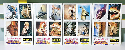 The Sun-Herald Attack of the Dinosaurs Cards Complete Set of 16!