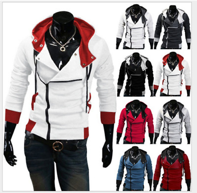 Men Jacket Costume Cosplay Stylish Creed Hoodie Cool Coat For Assassins Cagoule