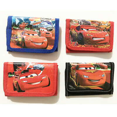 Mcqueen Cars Boys Wallet Trifold Zip Coin Purse Kids Party Gift