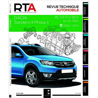 REVUE TECHNIQUE DACIA SANDERO II Phase 1 - RTA 826 / 9791028306236