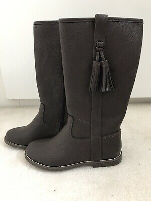 BNWT Girls Brown Long Boots Size UK 13 From Gap