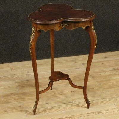 Small Table Living Room Furniture Bedside Wooden Mahogany Antique Style Bronze