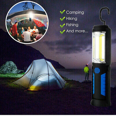 USB Rechargeable 3W COB LED Work Light Lamp Magnetic Flashlight Torch with Hook