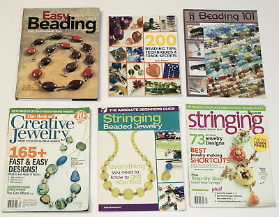 2 Beading Books and 4 related Magazines