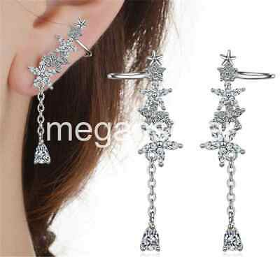 Trend Fashion Silver/Rose Gold Filled Jewelry Crystal Rhinestone Stud Earrings