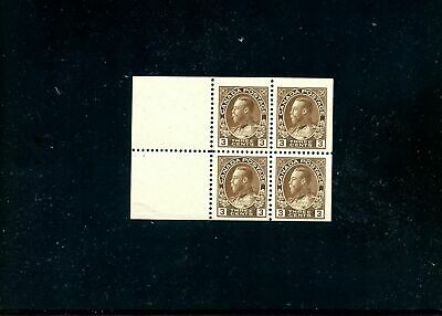 LOT 78779 MINT H 108a BOOKLET PANE KING GEORGE V