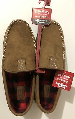 Signature by Levi Strauss & Co Men's Size 9/10 Memory Foam Moccasin Slipper NEW