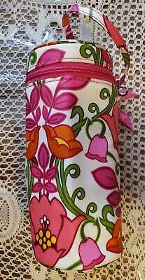 Vera Bradley Floral Pink White Green Baby Bottle Wristlet Bag - New With Tags